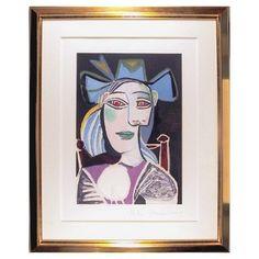 Check out this item at One Kings Lane! Picasso, Buste de Femme au Chapeau Bleu