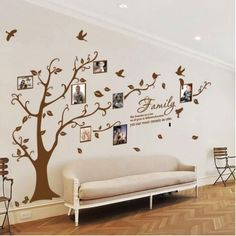 Family Tree Birds Wall Quotes / Wall Stickers/ Wall Decals from AmazingSticker Wall Decor, Room Decor, Family Tree Wall, Vinyl Wall Stickers, Wall Quotes, Frames On Wall, Decoration, Diy Home Decor, Sweet Home