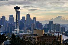 Seattle Skyline Outline | seattle city breaks seattle in washington state on america s