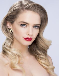 """RED CARPET"" on Wax hairstyle and make up for the White it may look nice on Africans as well or for more on make up and hairstyle visit http://www.waxpage.com/products/Beautification-Makeup"