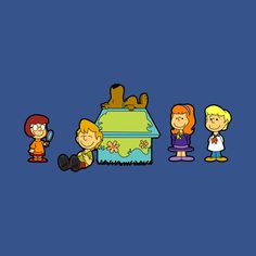 Awesome 'Shaggy+Brown+and+The+Scooby+Crew' design on TeePublic! Charlie Brown Snoopy, Snoopy Love, Peanuts Cartoon, Peanuts Gang, Old Cartoons, Classic Cartoons, Desenho Scooby Doo, Desenhos Hanna Barbera, Scooby Doo Images