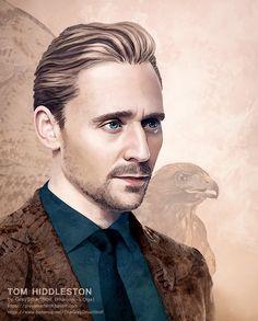 Tom Hiddleston. Artwork by greysmartwolf.tumblr