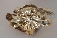 Eleganter Haarkrebs – goldene Haarspange mit plastischer Struktur | eBay