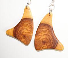 Olive wood earrings