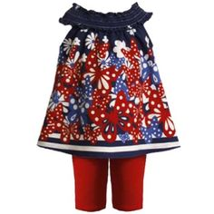 Summer girl party dress legging outfit set m09403 bonnie jean baby