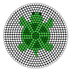 Turtle Perler Bead Pattern | Bead Sprites | Animals Fuse Bead Patterns: