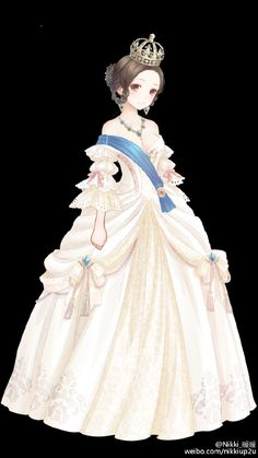 Her Majesty, Queen Anastasia Grey Manga Girl, Chica Anime Manga, Kleidung Design, Pretty Anime Girl, Poses References, Anime Dress, Estilo Anime, Fantasy Dress, Anime Artwork