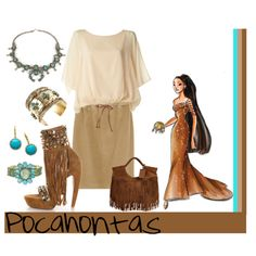 Pocahontas, created by annmarie0697  This set is part of my Disney Princesses collection.