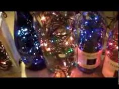DIY - how to make your own beautiful lighted wine bottles Recycled Wine Bottles, Lighted Wine Bottles, Bottle Lights, Bottles And Jars, Wine Glass, Wine Bottle Trees, Wine Bottle Corks, Wine Bottle Crafts, Drilling Glass