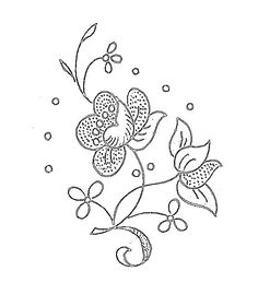 Image7 Hand Embroidery Stitches, Floral Embroidery, Beaded Embroidery, Embroidery Designs, Pattern Art, Art Patterns, Couture, Needlework, Floral Design