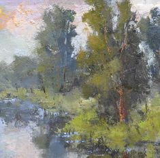 """Bethanne Kinsella Cople, """"Untroubled Where I Lie"""" - 8x8, oil on linen panel - at Principle Gallery"""