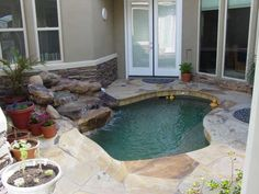 Small Backyard Pool Ideas find this pin and more on beautiful outdoor patios and porches with or without fireplaces Scottsdale Home With Perfectly Small Pool To Cool Of In