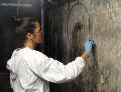 Intervienen mural histórico del templo de San Bernardino de Siena