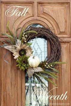 fall decor ideas Easy DIY Fall Decor Ideas Decorating for the seasons made simple with theses Easy DIY Fall Decor Ideas! Including fall wreaths, fall mantles, fall pumpkins and outdoor fall decor! Popular Pins by OHMY-CREATIVE. Fall Wreath Tutorial, Diy Fall Wreath, Wreath Crafts, Wreath Ideas, Winter Wreaths, Spring Wreaths, Summer Wreath, Holiday Wreaths, Elegant Fall Wreaths