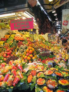 Barcelona. Barcelona, Jaba, Fruit Salad, Stuffed Peppers, Vegetables, Places, Food, Fruit Salads, Stuffed Pepper