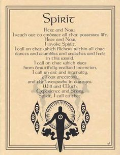 SPIRIT INVOCATION Parchment Page for Book of Shadows!