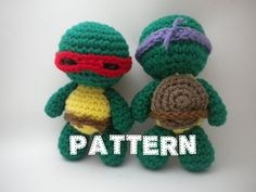 Crochet Pattern - Mini Turtle Ninjas Amigurumi - PDF file How to Crochet Amigurumi Animal on Etsy, $3.00