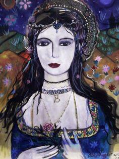 'Anne Boleyn' 3,  Paintings 1-10 by Alice Lenkiewicz