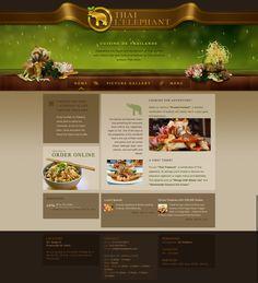 Thai restaurant website, by http://www.pinterest.com/omulet/
