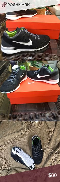 Nike WMNS Free 5.0 TR Fit 5 - Brand: Nike - Style: Nike WMNS Free 5.0 TR Fit 5 - Condition: Brand New In Original Box - Style Code: 704674-004 - Size: US Women's 8 - Color: Black / White-Dark Gray - Please Purchase With Confidence! - All shoes are acquired from Nike or certified retailers of Nike ONLY! - We only work with 100% authentic shoes of A+ quality. - PLEASE CONTACT US WITH ANY QUESTIONS OR CONCERNS REGARDING THIS PRODUCT. Nike Shoes Sneakers