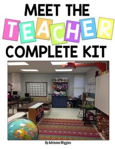 Meet The Teacher EDITABLE Kit! Get ready for Open House the easy way! Back to School