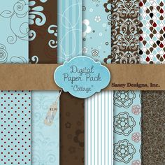 Cottage Digital Paper Pack