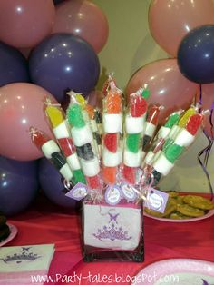 gummy skewers with Marshmellows  - party favors?