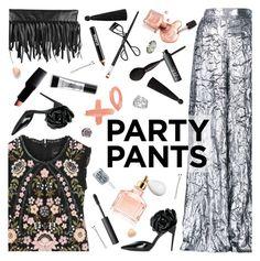 """Win It! #PolyPresents: Fancy Pants"" by ladysnape ❤ liked on Polyvore featuring Guerlain, Delpozo, Needle & Thread, Yves Saint Laurent, Smashbox, Too Faced Cosmetics, Bottega Veneta, NARS Cosmetics, JENNY JENNY and Essie"