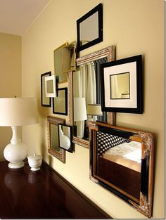 How to create a 3-D Gallery Wall  Such a clever idea!