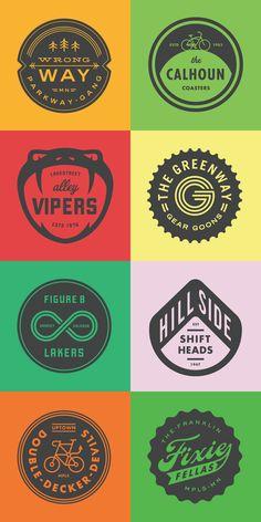 Striking logo collection.