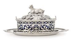 A George III Silver Butter Dish, Cover and Stand, Edward Aldridge, London, 1771