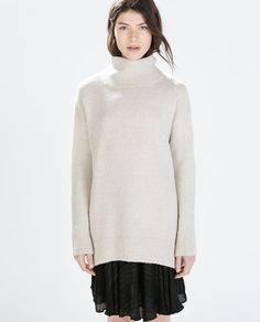 Image 1 of OVERSIZED POLO NECK SWEATER from Zara