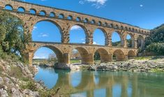 """The Pont du Gard ~ Southern France, a Unesco Heritage Site. Built to allow the Nimes aqueduct to cross the Gard River. Unesco calls it a """"technical as well as an artistic masterpiece."""" The 50-metre high bridge, which spans three levels, was built by the Romans halfway through the 1st century AD.  ~From thelocal.fr"""