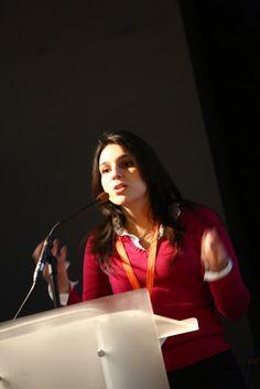 Marina Trevelin from University of São Carlos addresses the conference