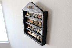 Let us help you display those challenge coins that are scattered around your desk! Display those coins in a custom wooden rack designed to proudly show off your hard earned coins. This ladder design is also equipped with a cutout that holds your standard uniform nametape! This is a perfect gift for any military service member and makes a great retirement gift!  This can be used for Army, Air Force, Marines, or Navy. The US ARMY nametape shown in photos is just an example. You would place…