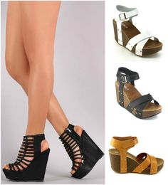 NEW Strappy Gladiator Wedge Sandal~Open Toe High Heel Women Platform Pump Shoe #NoBrand #PlatformsWedges