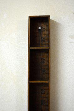 Vintage Wooden Ruler Hanging Shelf Folk Art by BabyBeswick on Etsy, $10.00