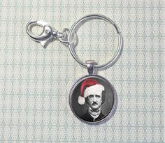 Edgar Allan Poe  - Key Ring - Key Chain -  Poe - Gifts for Writer - Book Lover - Christmas - Stocking Stuffer - Literary Gifts  (W5661)