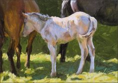 Sticking Close To Mom, painting by artist Don Gray