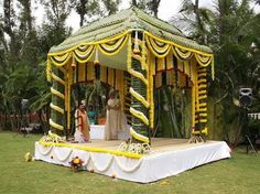 Coconut leaf decorations for the love of indian weddings coconut leaves wedding mandap google search junglespirit Image collections