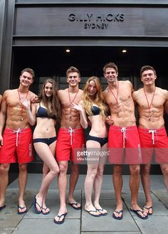 75 hot Life Guards pose for the opening of the Gilly Hicks and Hollister store on May 2012 in London, England.