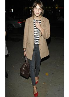 alexa chung #style #fashion #stripes