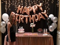 Most recent Photo Birthday Decorations Ideas Creamy bright brownies, colourful confetti, balloons plus ribbons. Fun-filled schoolhouse vibe and also relaxing joy plu 14th Birthday Party Ideas, 16th Birthday Decorations, Gold Birthday Party, Birthday Goals, Sweet 16 Party Decorations, Happy Birthday Balloons, 21st Birthday, Birthday Wishes, Sweet Sixteen