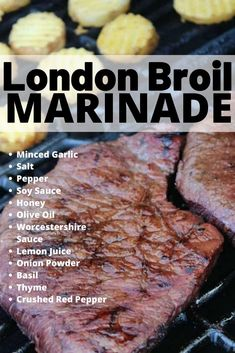 London Broil Marinade, quick & easy recipe to make yourself and use when you want to grill up a tender … Steak Marinade For Grilling, Steak Marinade Recipes, Grilling Recipes, Beef Recipes, Cooking Recipes, Steak Tenderizer Marinade, Simple Steak Marinade, Marinades For Steak, Homemade Steak Marinade