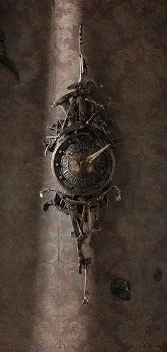 Cast No.2 by ericfreitas - clock sculpture casted in bronze. Eric Freitas... second to none w/ fully functional clockworks.