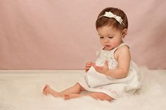 Ivory Baby Headband - Skinny Elastic Headband Boutique Bow in Custom Sizes - Solid Color - Newborn Baby Toddler Girl Baptism Christening on Etsy, $7.95