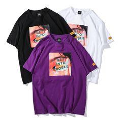 Men Harajuku T Shirt Funny Eye Print Hip Hop Streetwear Cotton – FuzWeb Best Streetwear Brands, Top Streetwear, Streetwear Fashion, Urban Outfits, Casual Outfits, Stylish Jeans, Japanese Street Fashion, Casual Tops, Shirt Designs