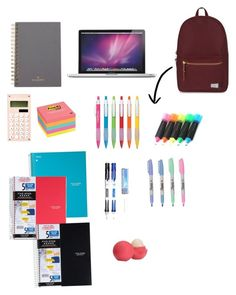 """""""May 29, 2016 ... Whats in my backpack !??"""" by maryfasion on Polyvore featuring art"""