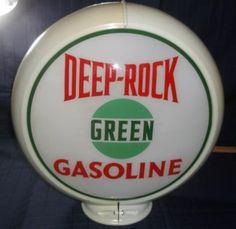 Deep Rock Green Gasoline gas pump globe