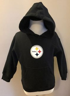 c58c068a7 Pittsburgh Steelers Size 4 Hoodie Sweatshirt Black NFL Girl Boy Unisex   Reebok  PittsburghSteelers